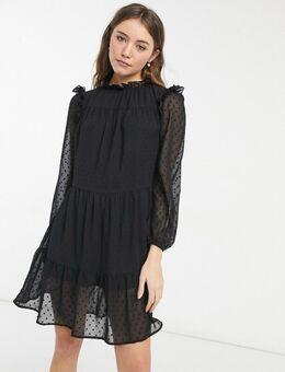 Mini-smockjurk in zwart