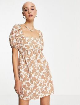 Babydoll-jurk met strik op de rug en paisley motief-Veelkleurig