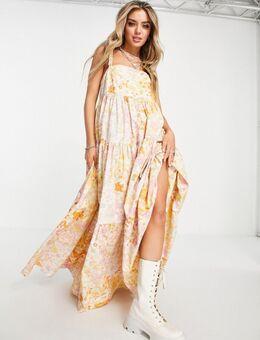Park Slope - Maxi-jurk met bloemen in crème-Wit