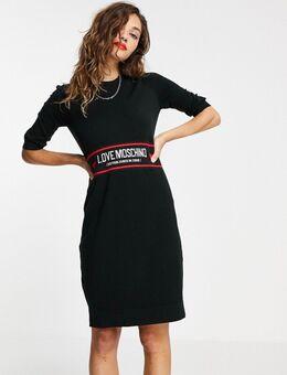 Abito - Bodycon mini-jurk van jacquard in zwart