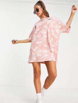 Jersey T-shirtjurk in roze tie-dye, exclusief bij ASOS-Neutraal