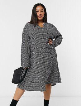 Mini-jurk in pied-de-poule-Multi