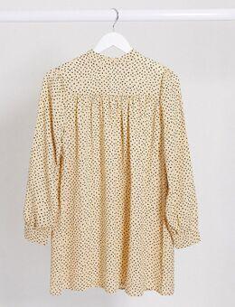 Aangerimpelde jurk met gele vlekken-Multi