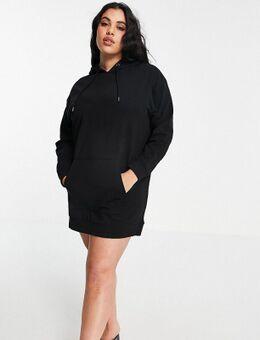 Raku - Trui-jurk met capuchon in zwart