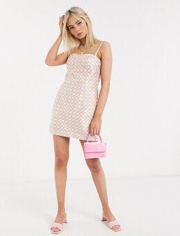 Stefania Vaidani - Linda - Geruite mini-jurk in roze