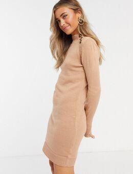 Rula - Gebreide trui-jurk met knopen-Roze