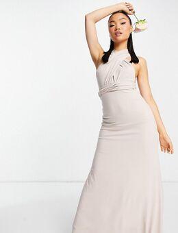 Bruidsmeisjes - Lange jurk met multifunctionele bandjes in roze