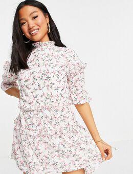 Influence Petite - Mini-jurk in witte bloemenprint