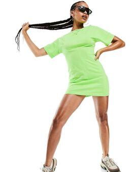 T-shirt jurk met naaddetail in limoengroen