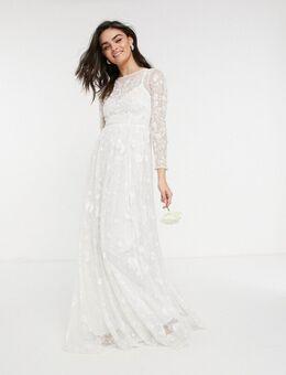 Aya - Versierde en geborduurde trouwjurk-Wit