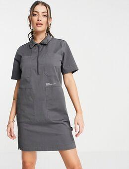 Utility jurk in donkergrijs