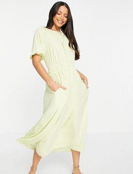 Halflange nette jurk in groen