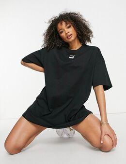 T-shirtjurk met klein logo in zwart