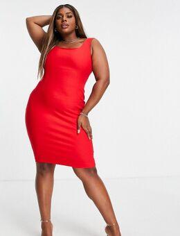 Halflange bodycon-jurk in rood
