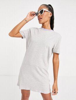 Lenie - Ringer T-shirtjurk-Grijs