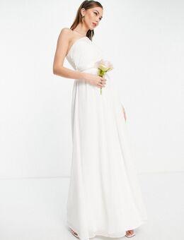 Bruidskleding - Maxi jurk met blote schouder in wit