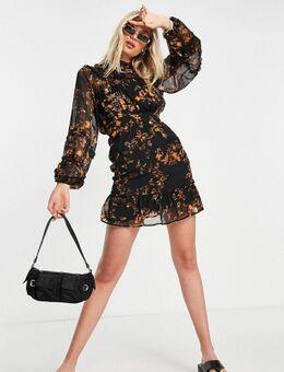 Mini jurk met dierenprint-Meerkleurig