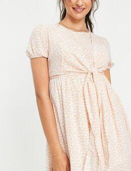X Dani Dyer - Mini-jurk met strikdetail in roze multiprint-Veelkleurig