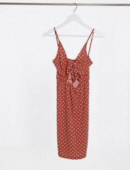 Bodycon jurk in stippenprint-Meerkleurig