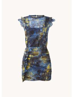 Hali Mirus mini jurk met volant en print