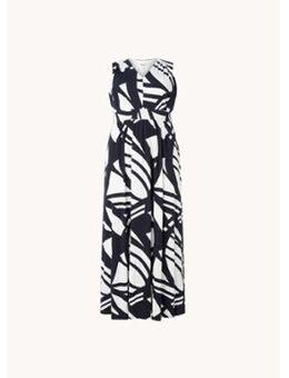 Ostia maxi jurk met print en V-hals