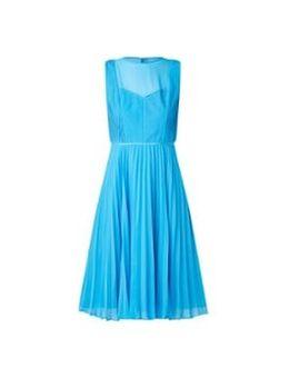 Edythe Pleat Dress Turquoise 0