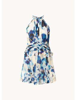 Belle mini jurk met print en plissé