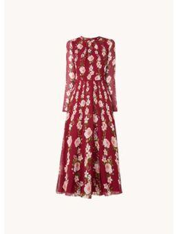 Rosabelle maxi jurk van zijde met bloemenprint