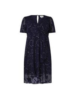 Polly midi jurk met bloemenprint en lurex