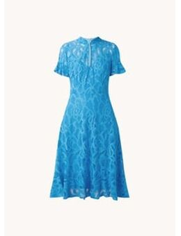 Lulu semi-transparante midi jurk met ingeweven patroon