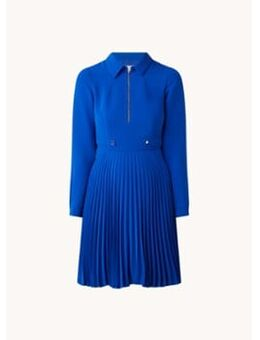 Jola mini jurk met plissé en halve rits