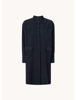 Mini A-lijn blousejurk van corduroy met kleppzakken