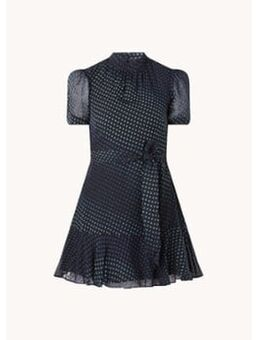 Gianna mini jurk met stippenprint en strikceintuur