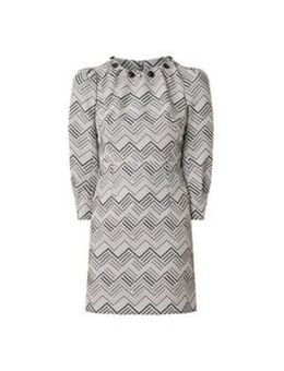 Vesta Button Dress Grey 08