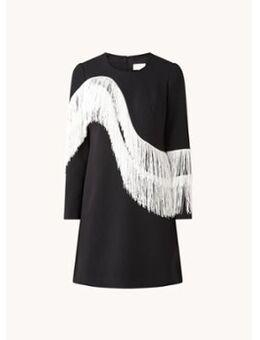 Abline mini jurk met franjes