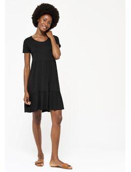 Jersey babydoll jurkje Black Beauty