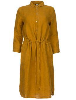 Linnen jurk Katja goud