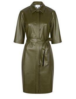 Faux leather jurk Baroon olijf groen