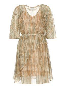 Ruches jurk met lurex Cadya metallic