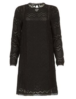 Kanten jurk Dena zwart