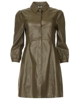 Faux leren jurk Lana groen