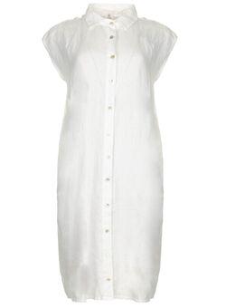 Linnen jurk Kristel wit
