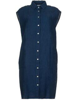 Linnen jurk Kristel blauw