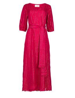 Kaftan jurk Halo roze