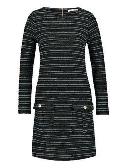 Bouclé jurk met lurex details Lizzy zwart
