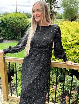 – Kleid mit Ballonärmeln und Sternen-Print-Mehrfarbig
