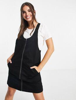 – Ross – Overall-Kleid in Schwarz