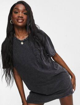 – Vera – T-Shirt-Kleid in Schwarz