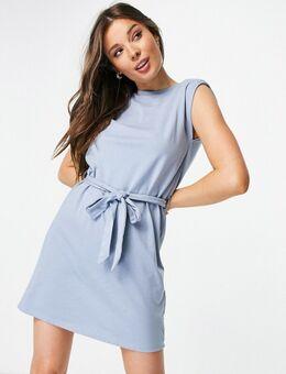 – Ärmelloses T-Shirt-Kleid in Blau