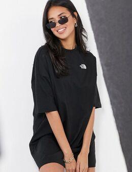 – T-Shirt-Kleid in Schwarz, exklusivbeiASOS